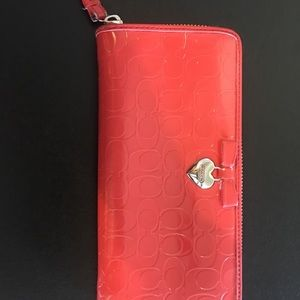 Coach patent signature wallet